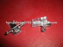 adhesive badge clip with safety pin HS0551