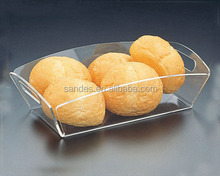Skillful Manufacture Design Square Acrylic Tray to Hold Fruits
