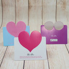 wholesale Alibaba valentine cake Gift heart shape card love paper Greeting Card valentine day birthday gift card