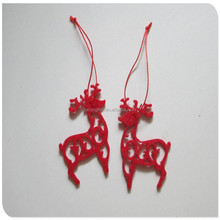 laser cut christmas tree hanging ornaments felt home decoration