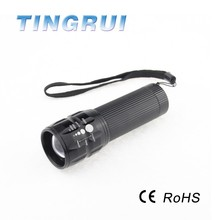 Hot sale wholesale solar power bicycle rechargeable led flashlight