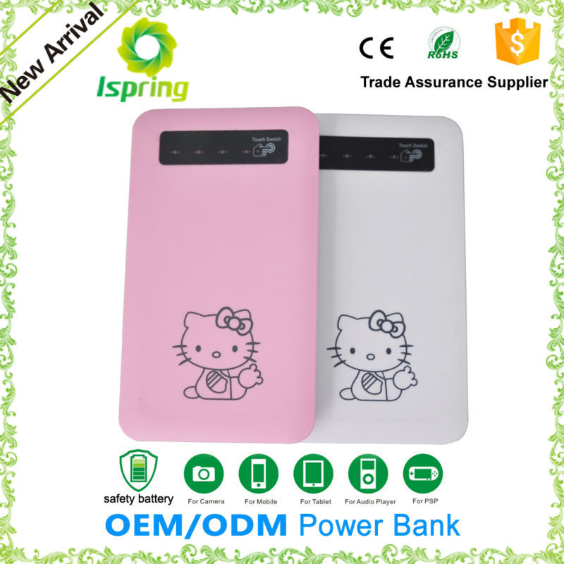 Accept logo printing slim power bank for tablet pc/cell phone