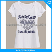 Customized Logo Woman T Shirt Best Selling