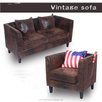 European antique style sofa/Small family PU sofa furniture