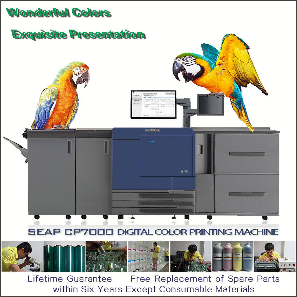 seap cp7000 industrial color labeling printing machine printer