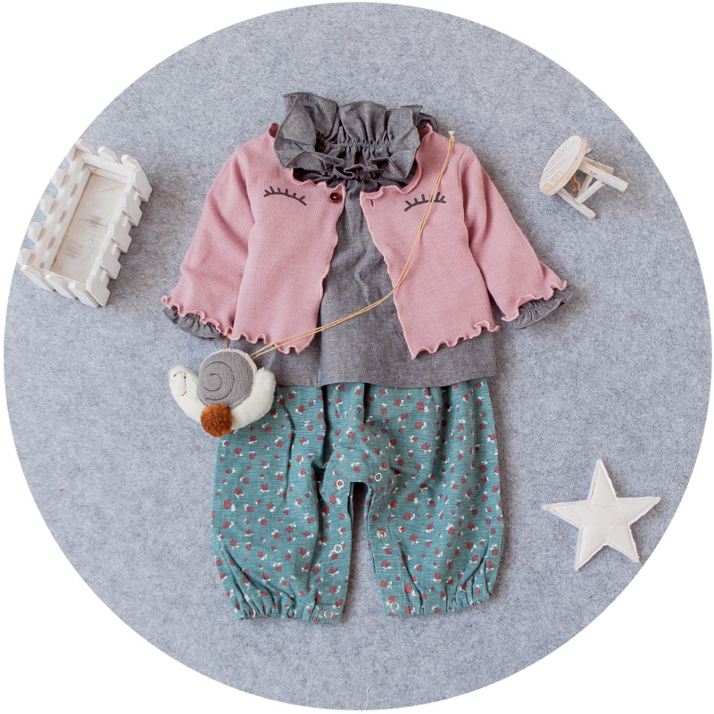 YD4004latest baby clothing 2016 three pieces cotton baby kid clothes
