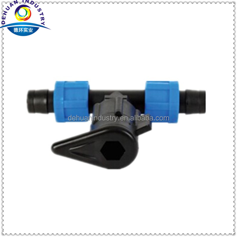 Drip Irrigation Fitting /Tape Tee for Lay Flat Hose