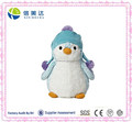 Cute Mini Bright Blue Penguin Doll with Blue Earflap Toy