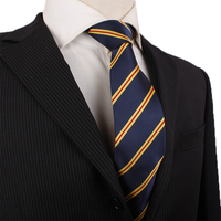 Custom Gold Stripe Men's Uniform Silk Logo Ties