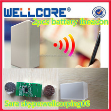2 pcs CR2477 Battery Advertisement broadcast bluetooth ibeacon for apple certified with APP