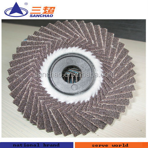flower shaped plate / flexible flap disc with calcined abrasive