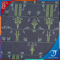 4 oZ denim printing fabric popular in Indonesia printed denim fabric
