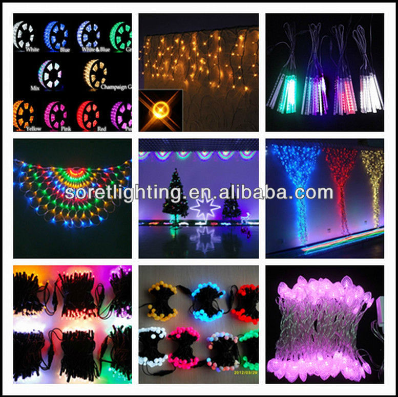 1*2m outdoor europe market connectable BS UL VDE plug multi color led christmas net lights