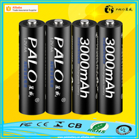 Factory direct sale 3000mah AA Size Nimh 1.2V rechargeable battery