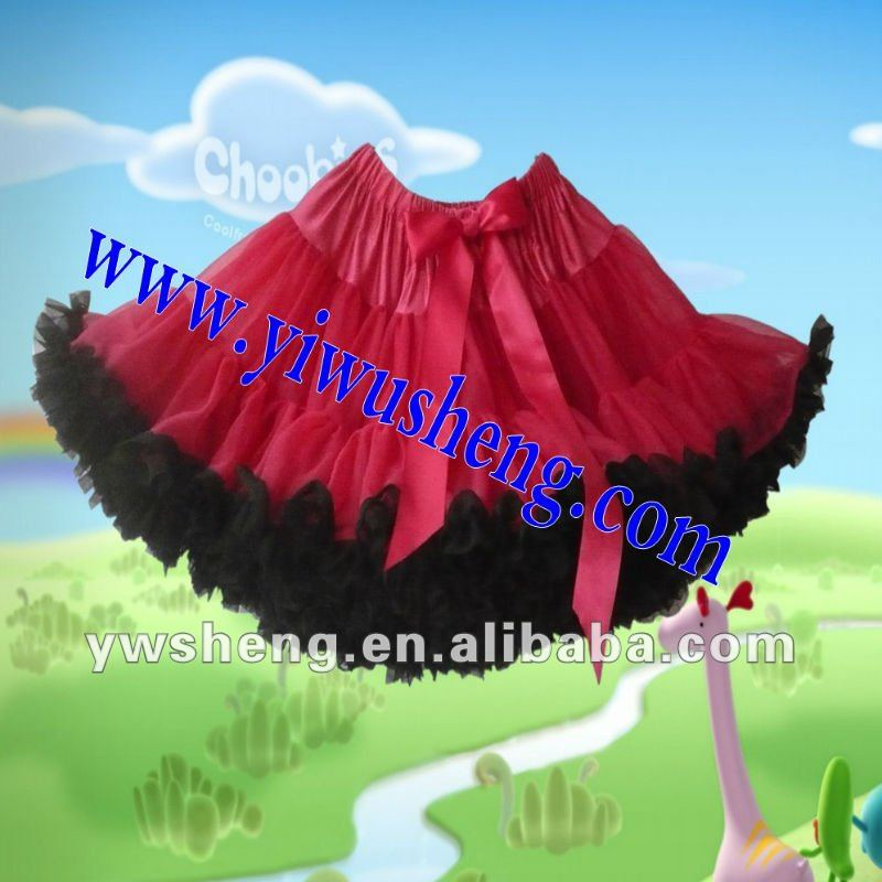 Hot pink with Black ruffles Pettiskirts Colorful Pettiskrits Girl's Pettiskirts Petticoat Pettiskirt Girl's Skirts