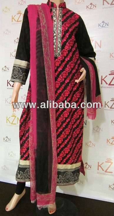 Sana Safinaz Replica Lawn Kameez with Embroidery
