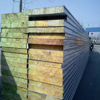 Best Heat insulation ISO9001/SGS/BV sandwich rockwool wall panel