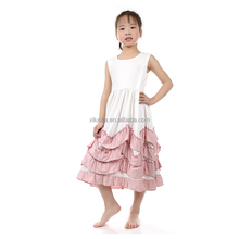 New Fashion Girls Long Dress Princess Style Children Frocks Designs
