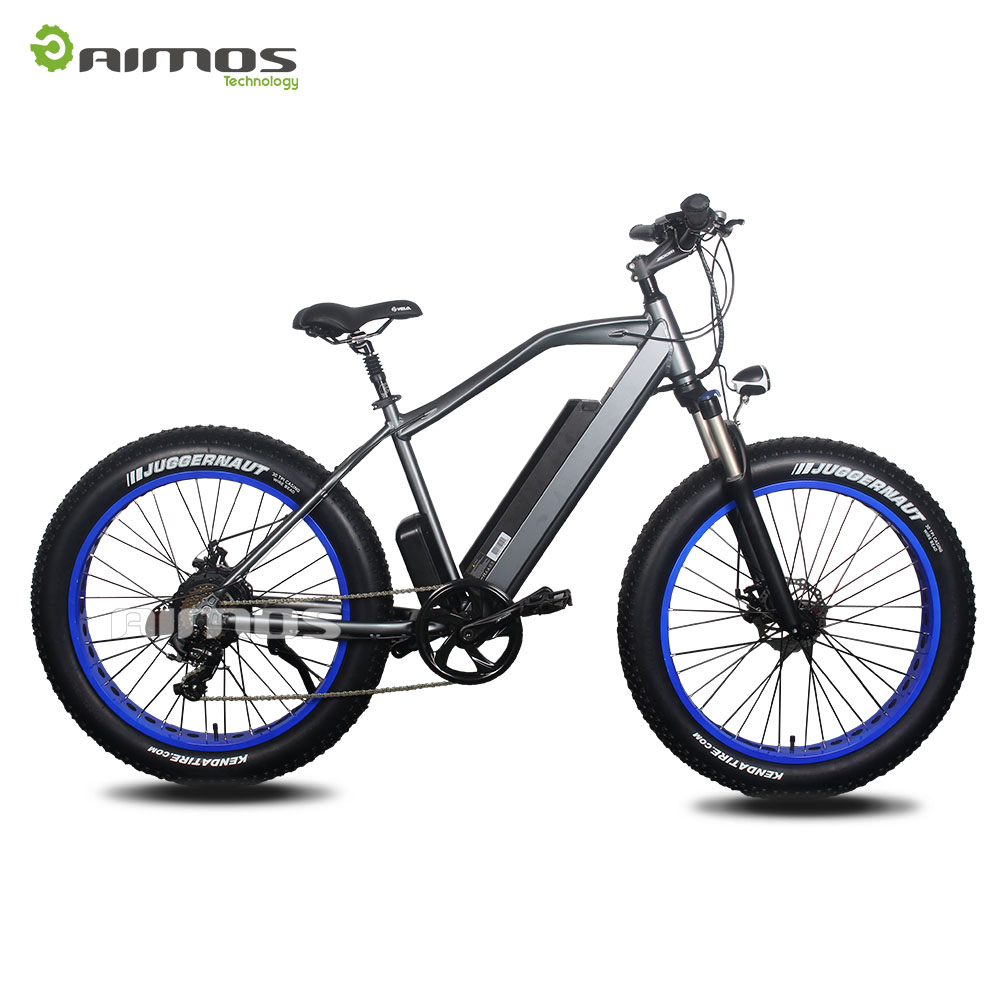 26'' fat e bike, Emotion electric fat bike with suspension seat post