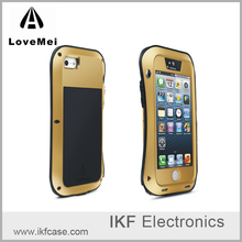 LOVE MEI Powerful Metal Bumper Case for Iphone 5 5G 5S 5SE Premium Luxury Aluminum Waterproof Shockproof Phone Cover