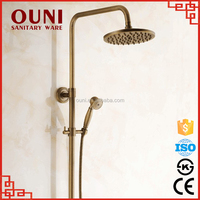 On-04 Top quality easy install high pressure brass automatic led shower head