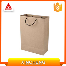 High quality carrier gift paper bags brown kraft paper bag for shopping with twisted handle
