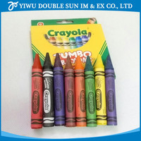 High quality cheap multi jumbo color wax crayon 8 Colors drawing wax Crayons for children