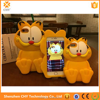 2016 newest 3d cartoon silicone soft Garfield cell phone case cover for iphone 6 6s