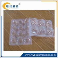 Egg tray plastic container attached lid containers with competitive price