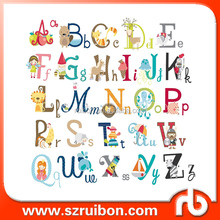 Customized Vinyl Alphabet Letters Kids Room/Nursery wall decoration sticker