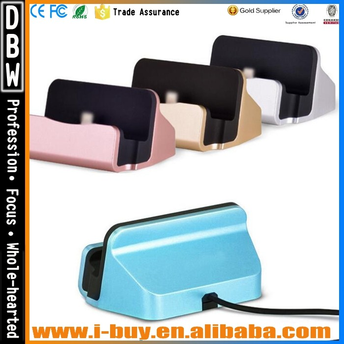 Cell phone docking station for telephone handset