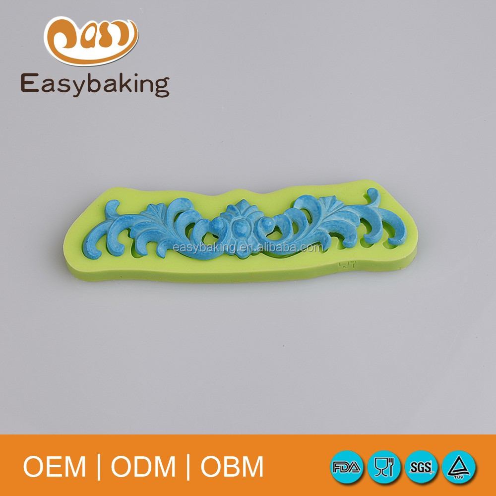 European Retro Baroque Cake Rim Decorate Silicone Fondant Molds