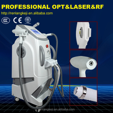 Promotion! Best Salon Vertical 3 in 1 Beauty Machine Hair Removal Tattoo Removal elight ipl rf nd yag laser