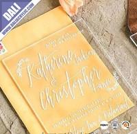 decorating acrylic wedding invitations for wedding