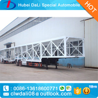New design 8-12 cars auto transport truck trailer/ long semitrailer vehicle/ flatbed car trailer