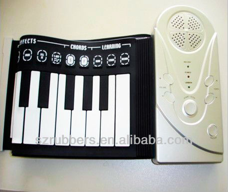 Silicone hand roll up digital piano keyboard