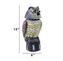 Wholesale Realistic Rotating Head Scarecrow Fake owl decoy repellent - Frightens Birds,Rodents and Pests Out Of Your Property