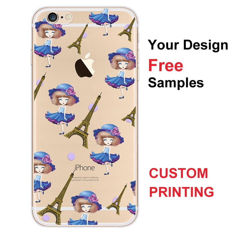Mobile Phone Accessories Cover Cell Phone Case Custom Design 3D Sublimation IMD Printing Soft TPU Case for iPhone 6 6s Plus