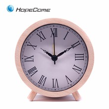 Hot Wood Table Clock Round Shape World Time Clocks