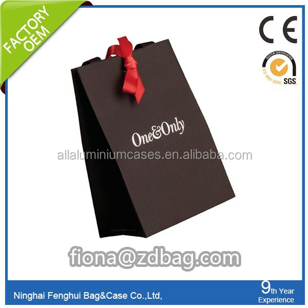 customized paper gift bag/new style pape bag gift bag packing bag/shopping paper bag