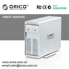 "ORICO 7629SUSC 2 bay 3.5 "" SATA HDD Enclosure With eSATA + Hard drive OTB clone"