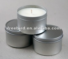 Sliver tin candles, scented candle