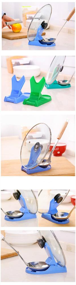 New Kitchen More Function Foldable Pot Lid Holder Lid Frame Scoop Shovel diagnostic tool kitchen accessories decorations