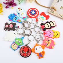 2D/3D PVC Keyring custom soft pvc keychains Promotional Travel Custom Keychains Metal Keyring For Souvenirs