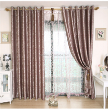 Wholesale jacquard polyester curtain fabric blackout for bedding room