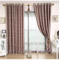 jacquard polyester curtain fabric blackout for bedding room