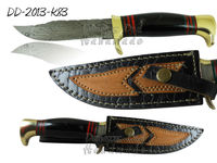 Damascus Steel Knife DD-2013-K83 Buffalo Horn Handle