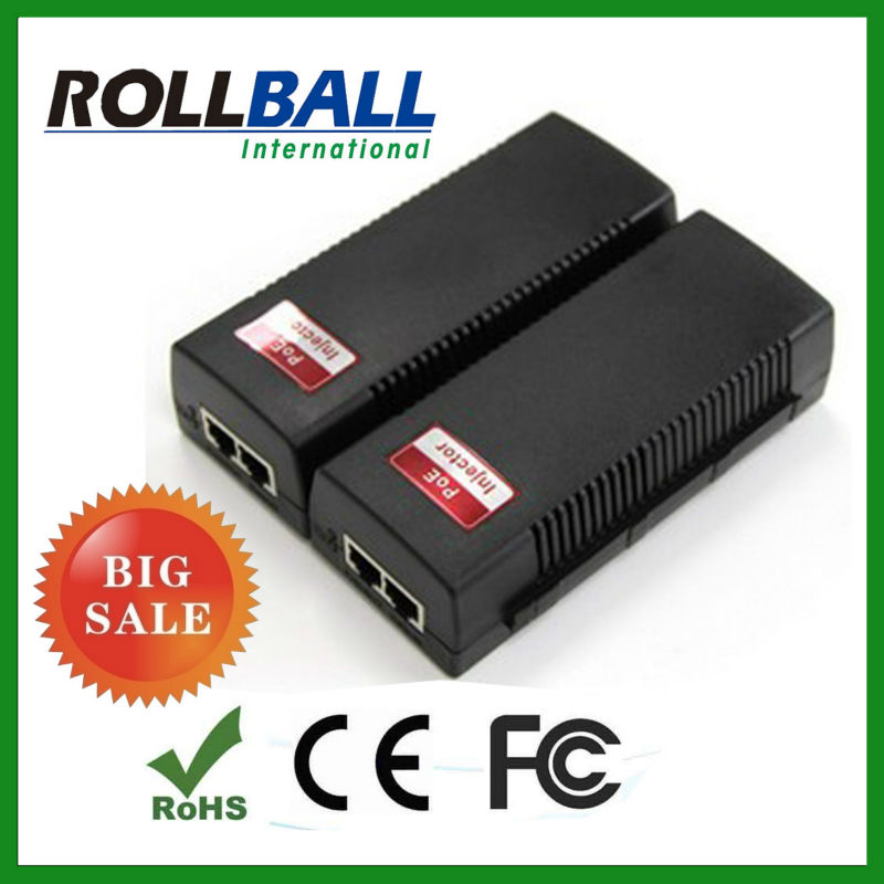 hot selling 10/100/1000M 48v dc poe injector