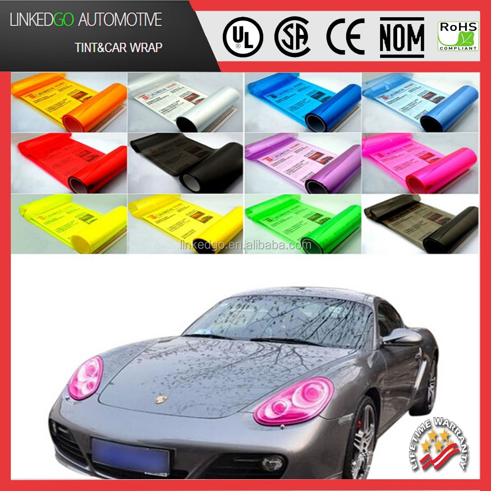 High quality Headlight tail light decorative PVC material color change car mirror tint film