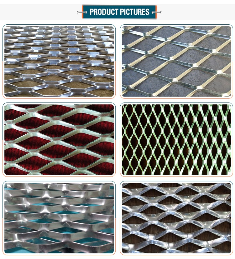 Top sell coating 3mm thickness aluminum expanded metal mesh